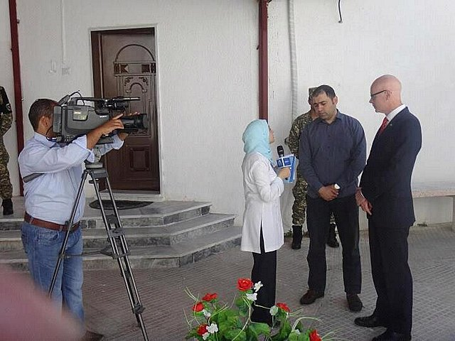 DR SHANE BRYANS BEING INTERVIEWED BY LIBYAN TV, MAY 2012